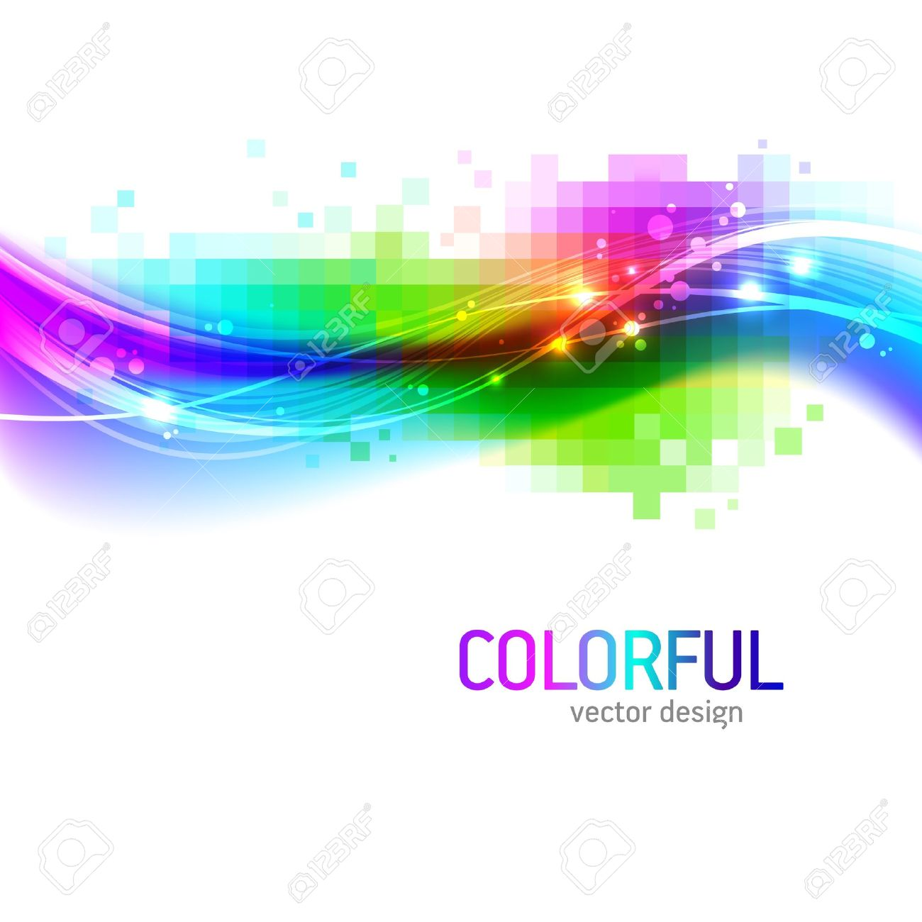 Abstract vector background with colorful wave Stock Vector - 9902894