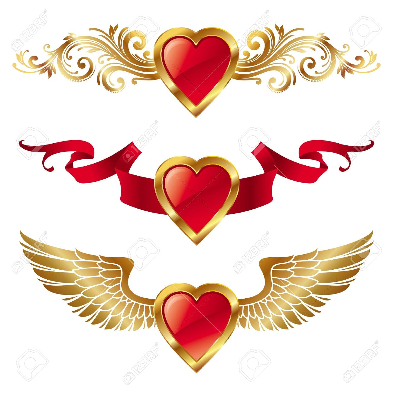 17 621 heart with wings cliparts stock vector and royalty free