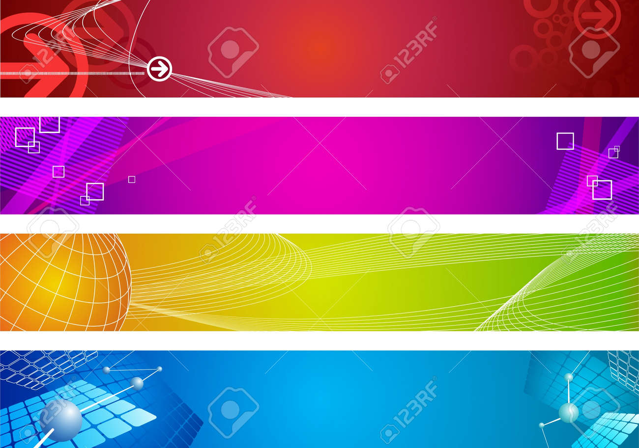 Abstract vector web banners Stock Vector - 9953380