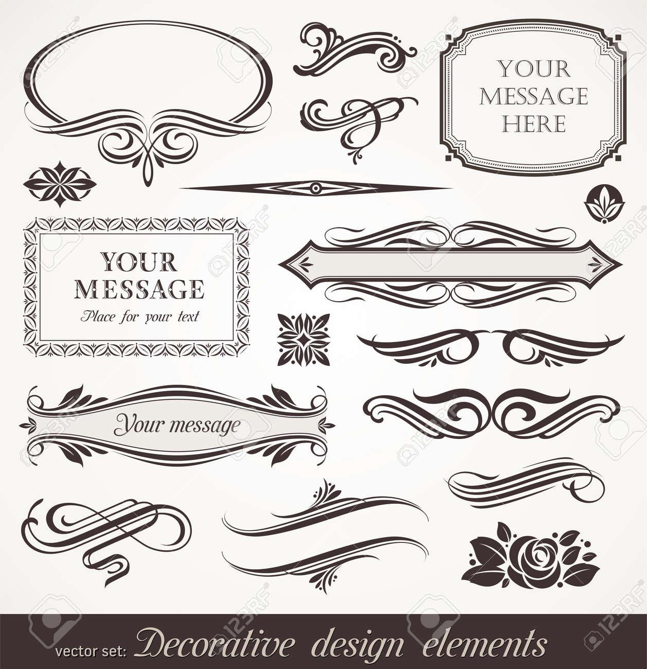Vector decorative design elements & page decor Stock Vector - 9947817