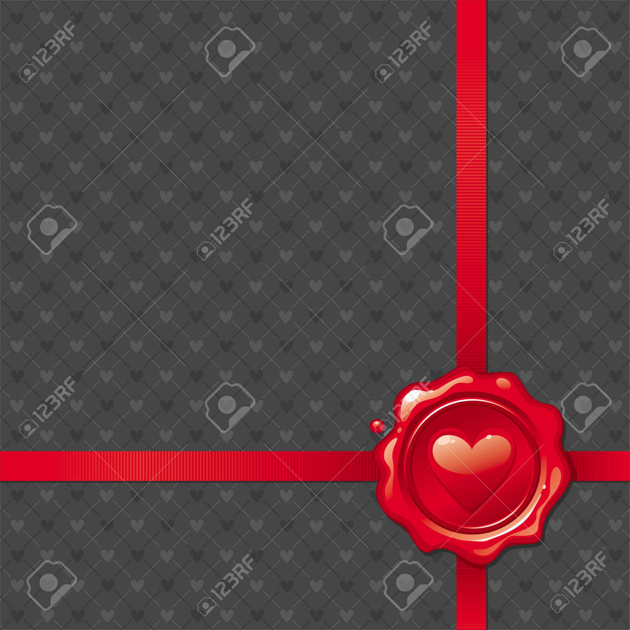 Vector illustration with Valentines sealing wax stamp Stock Vector - 9946712