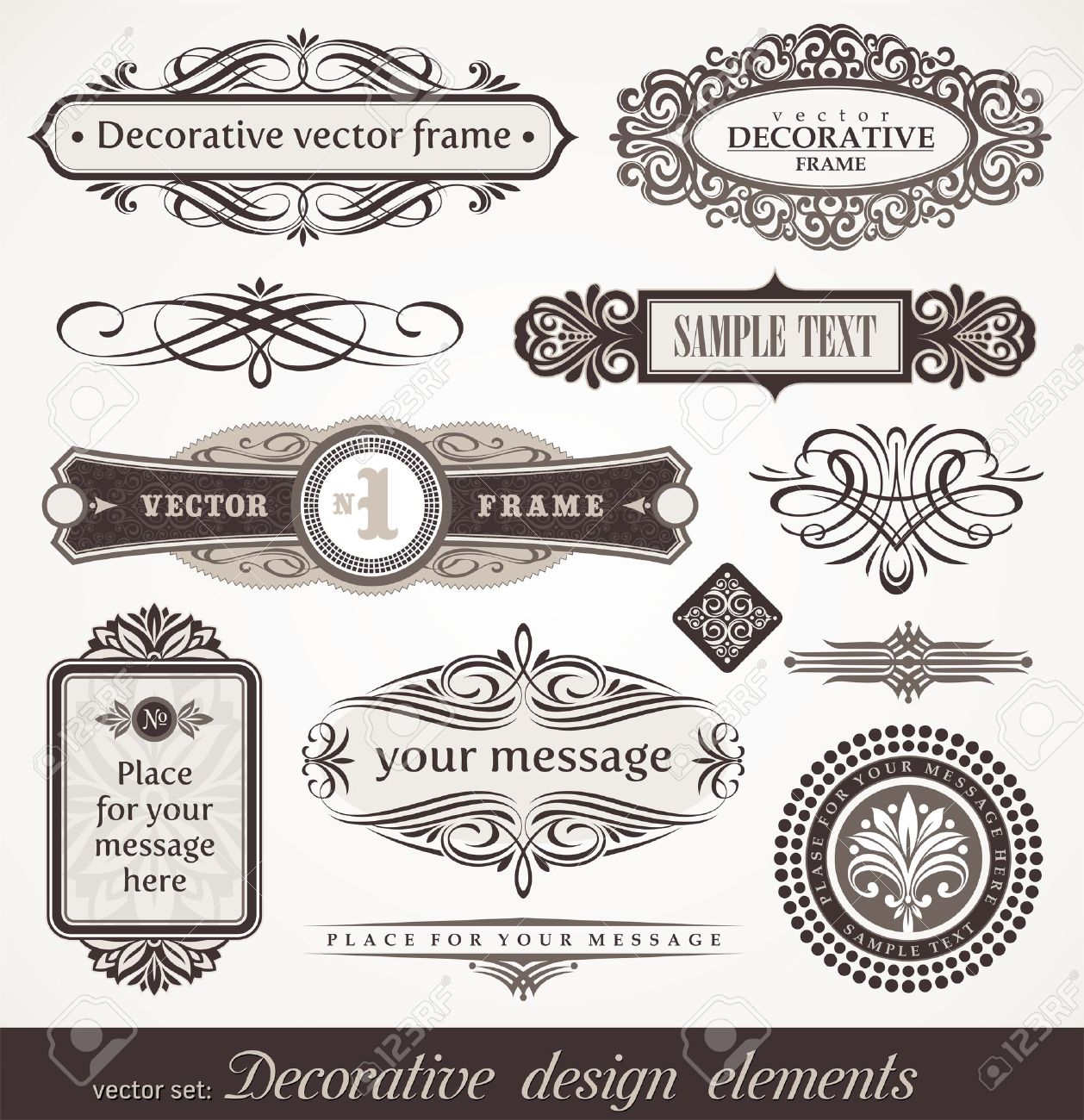 accents: Decorative vector design elements & page decor