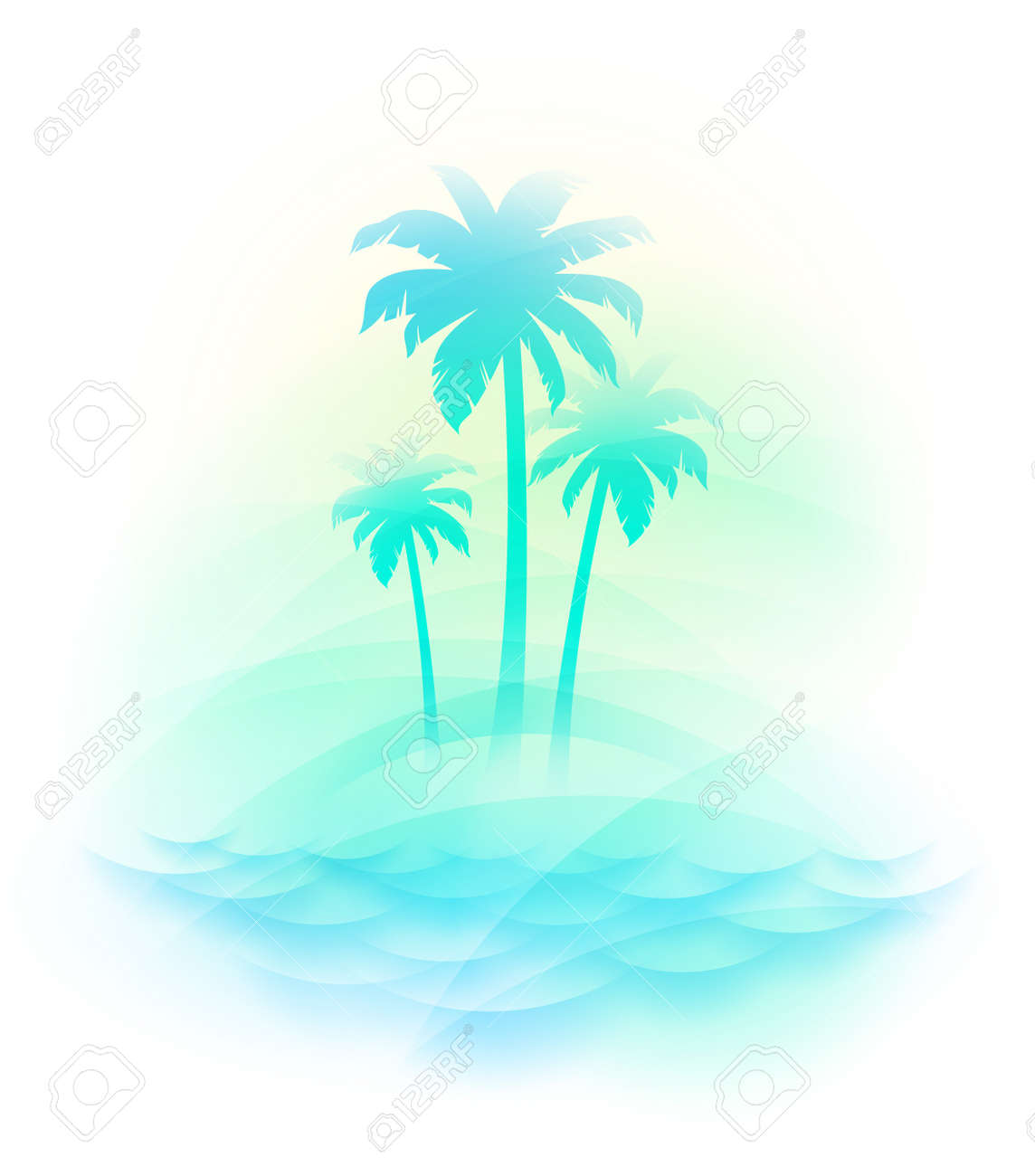 Vector illustration - Tropical island Stock Vector - 10179531