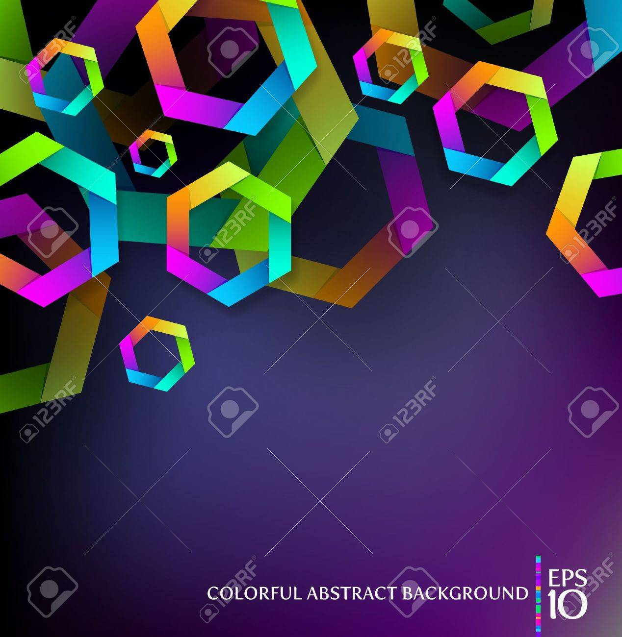 Abstract background with colorful hexagons Stock Vector - 10298498