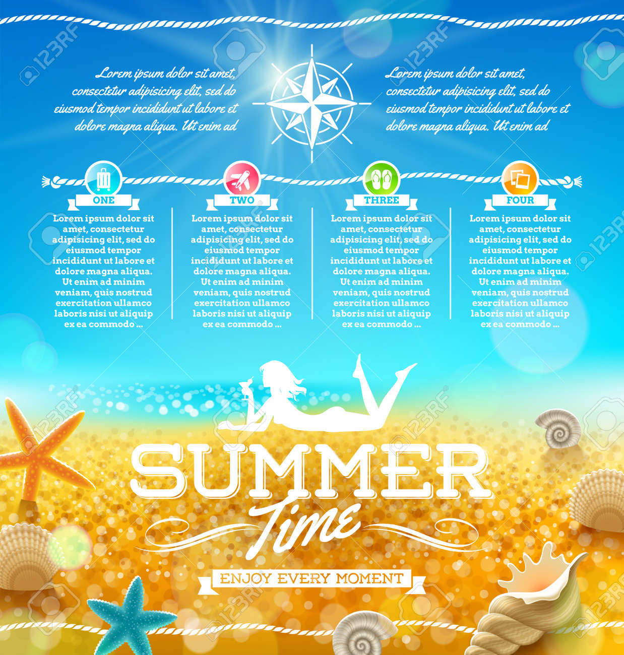 Summer vacation and travel design Stock Vector - 20899761