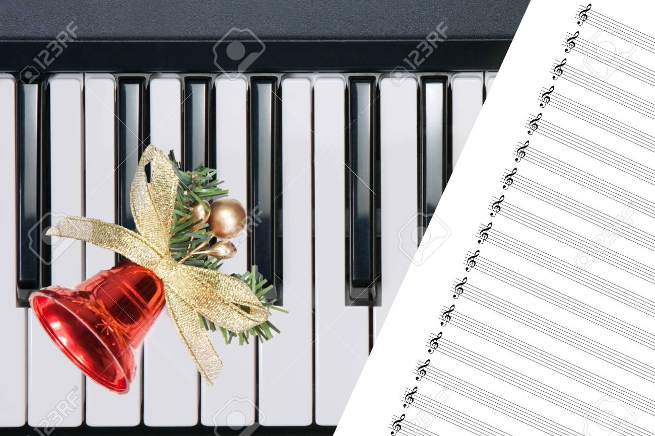 Christmas bell on keyboard Stock Photo - 11694925