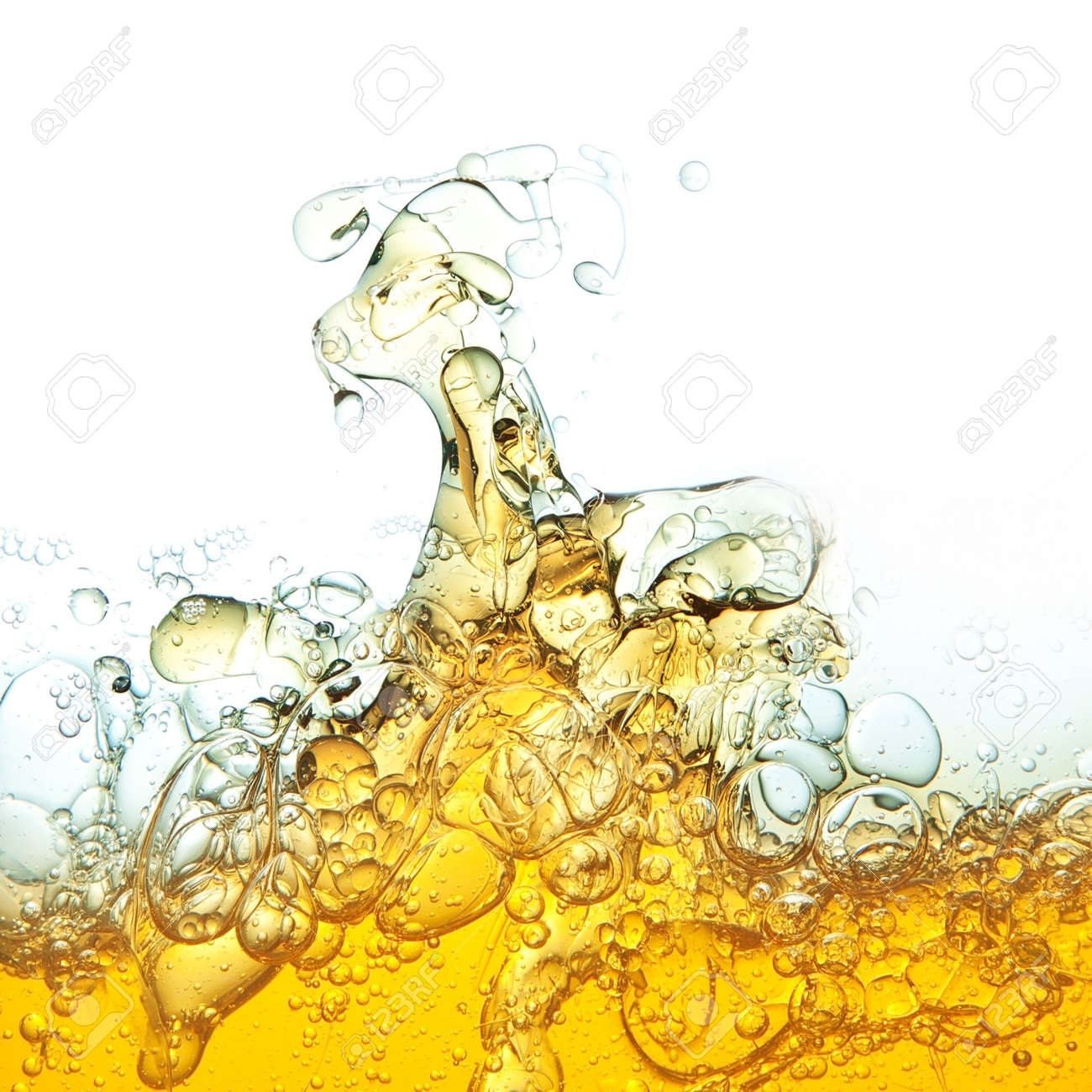 Abstraction, oil bubbles in water Stock Photo - 13983715