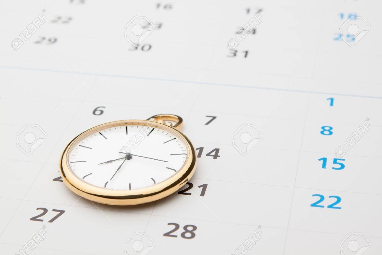 Symbols Of Time Clock And Calendar