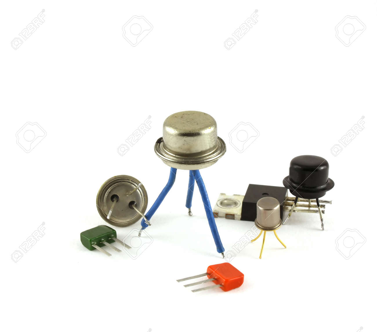 Electronic components - transistors Stock Photo - 6873117