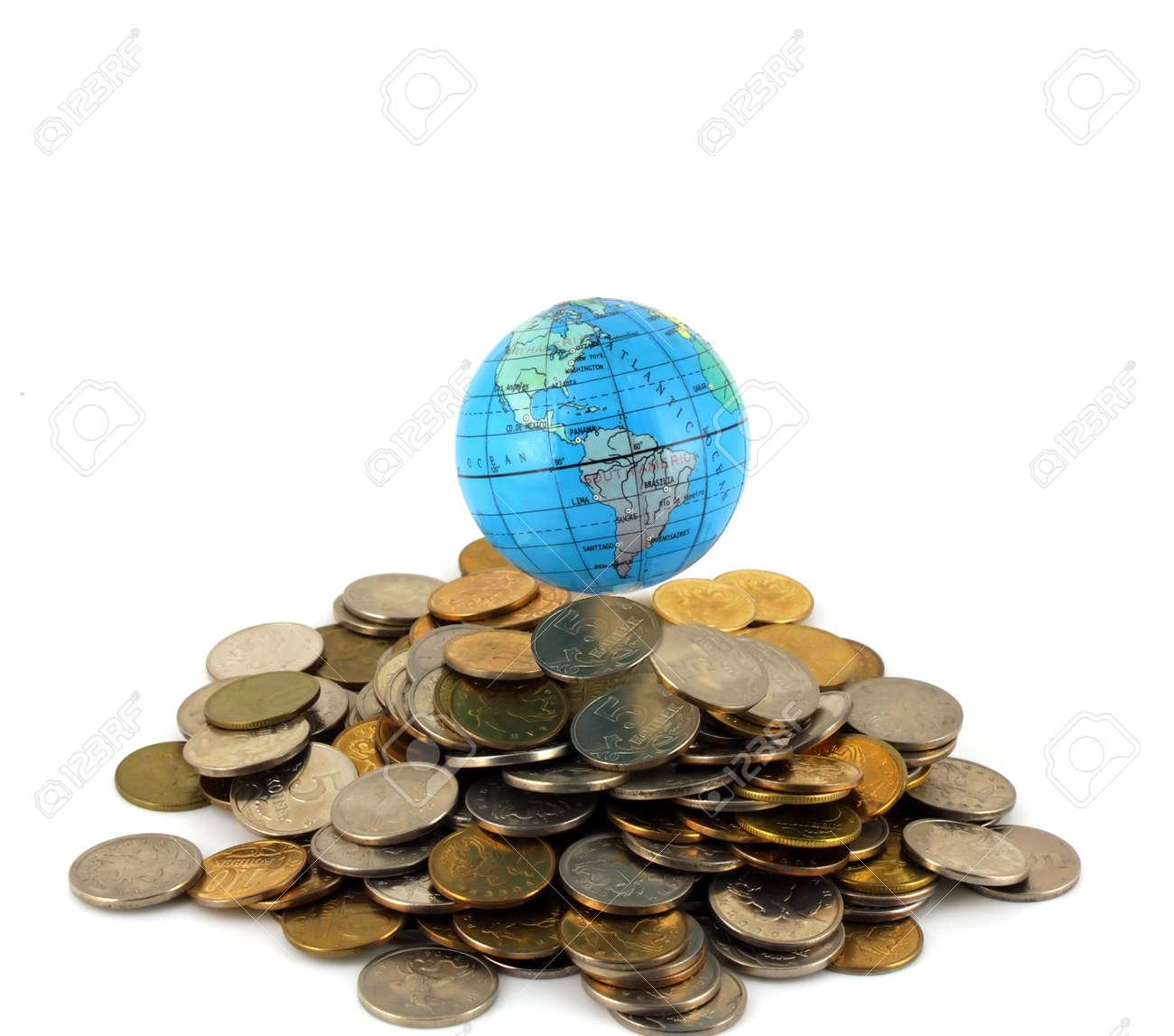 Earth over money Stock Photo - 7702736