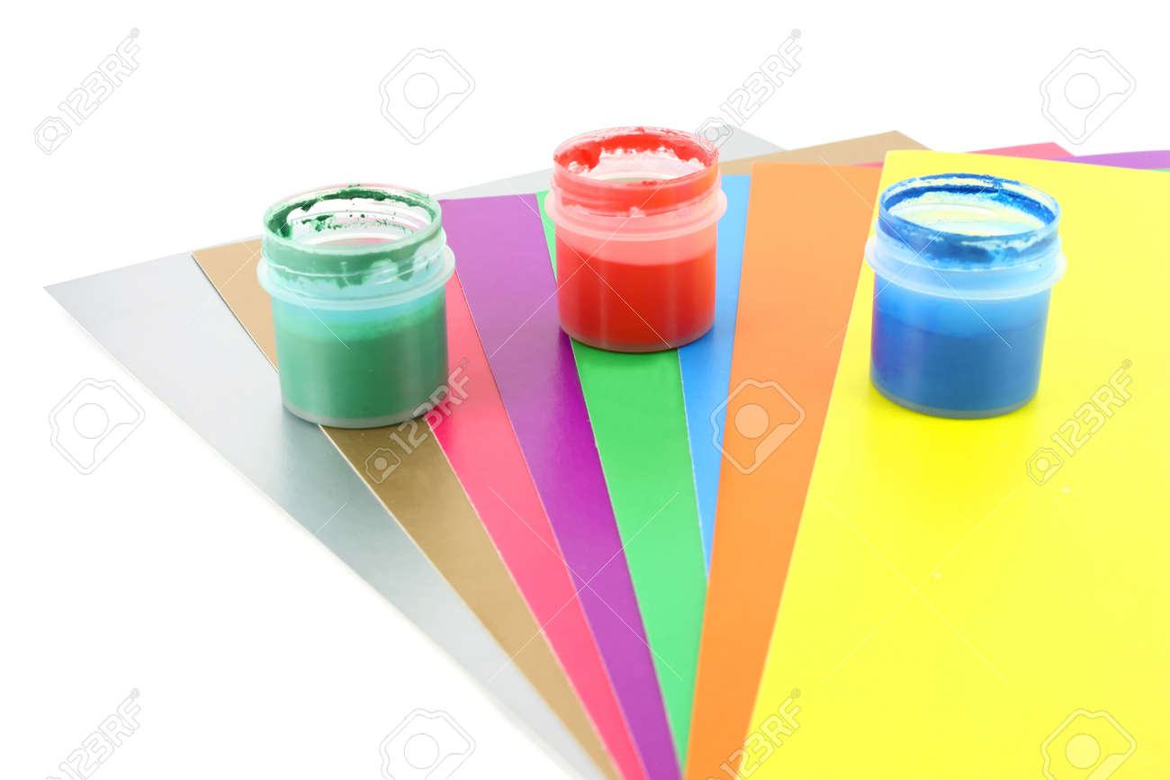Color papers and water-colour Stock Photo - 8265738