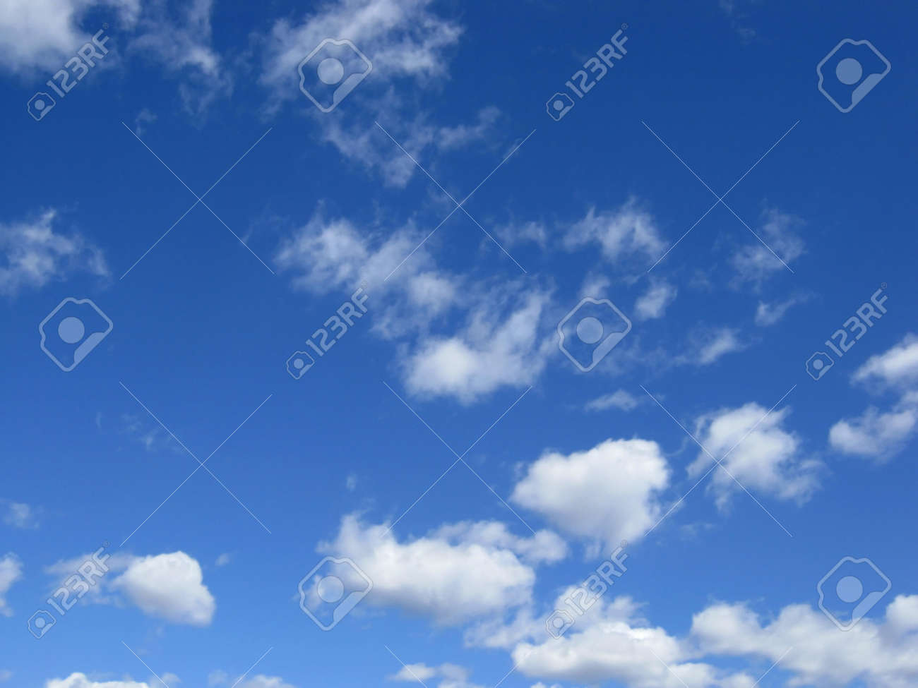 Blue sky with clouds. Air nature. Stock Photo - 9405289