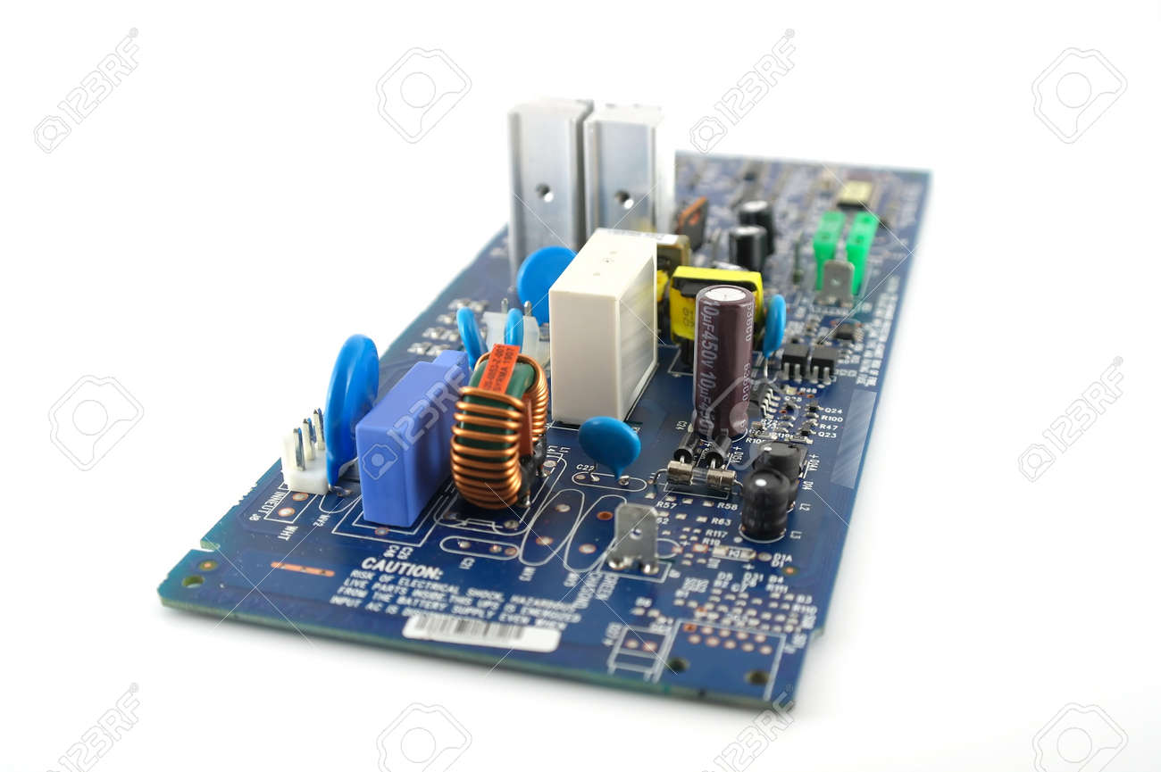 Old Electronics Circuit Board Over White Stock Photo Picture And Electronic Royalty Free Image 12982856