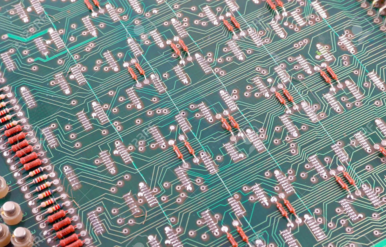 Old Electronic Circuit Board Abstract Background Stock Photo Picture Of 30180010