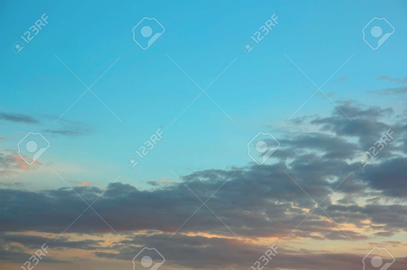 Beautiful evening sky with clouds Stock Photo - 55213493