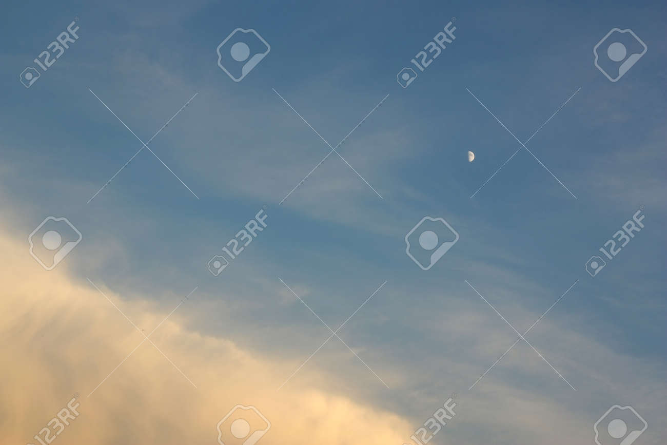 Beautiful blue sky with clouds, air nature Stock Photo - 61938724