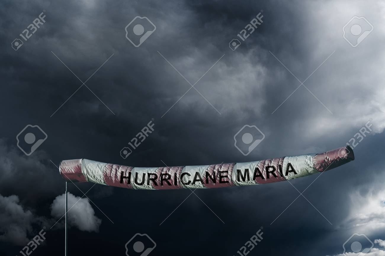PUERTO RICO, CARIBBEAN, 20 September 2017 - Hurricane Maria has arrived. Stock Photo - 89387977