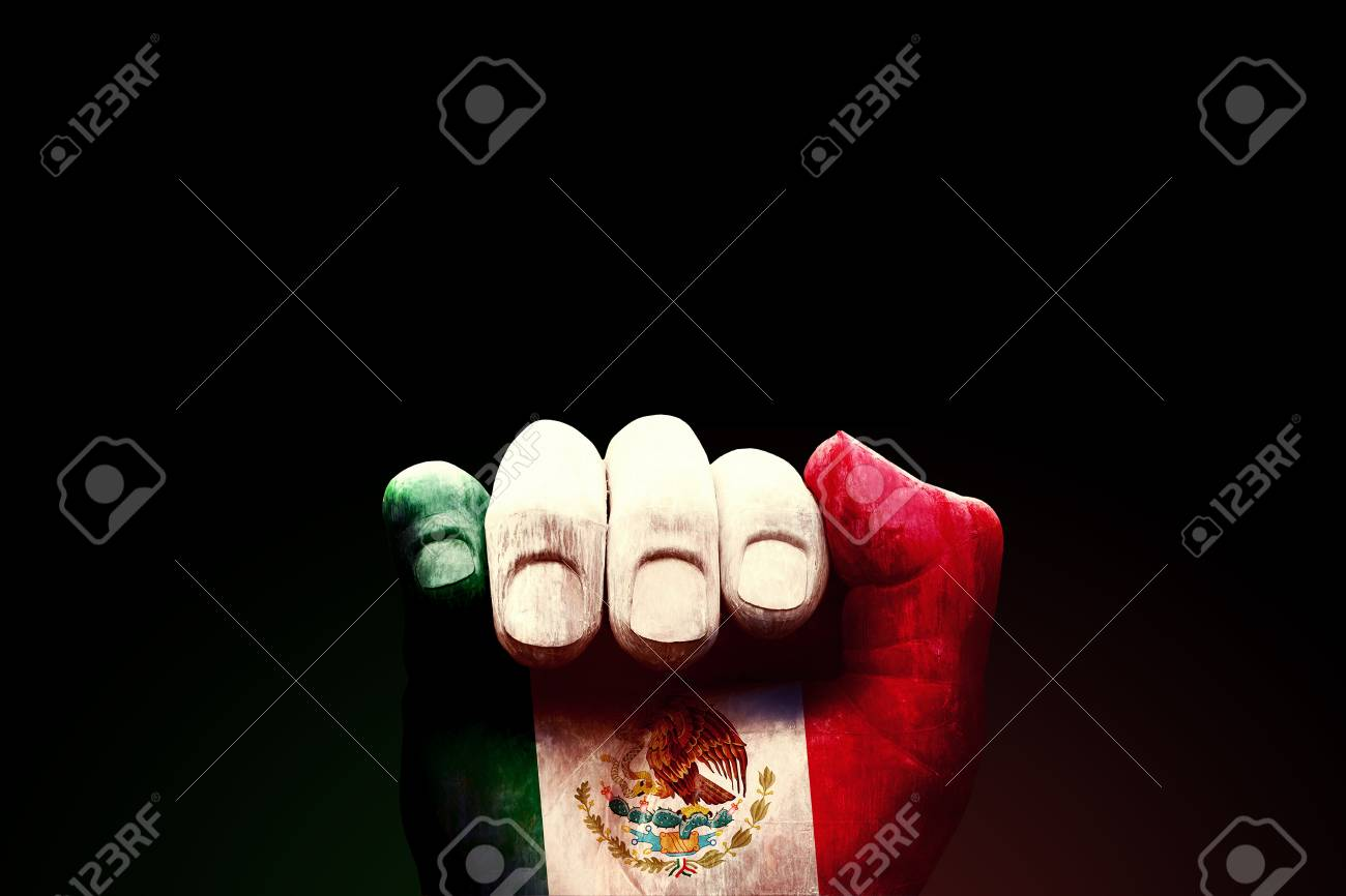 MEXICO CITY, MEXICO, 21 September 2017 - Silence & Strength. A hand gesture in Mexico used to signify €€'silence' rescuers search for survivors of earthquake. Here, rendered as a monument. Stock Photo - 89387979