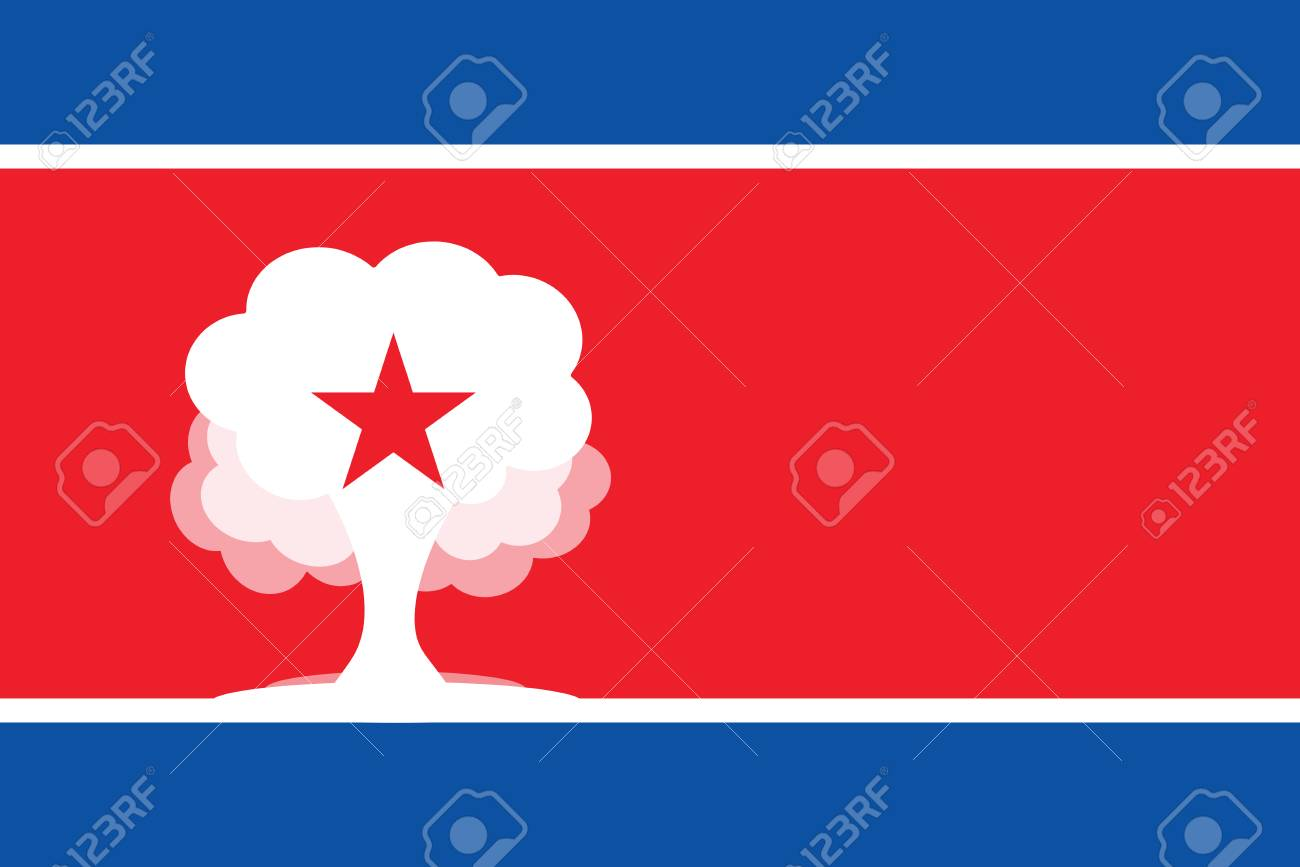 PYONGYANG, NORTH KOREA, 22 September 2017 - North Korea threatens to test a Hydrogen Bomb in Pacific Ocean. Stock Photo - 89387981