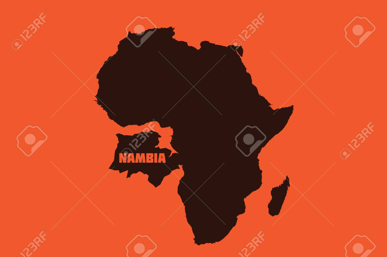UN, NEW YORK, USA - NAMBIA Donald Trump misnamed Namibia in a UN speech, calling it 'Nambia' and thereby invents an entirely new African country. Stock Photo - 89387983