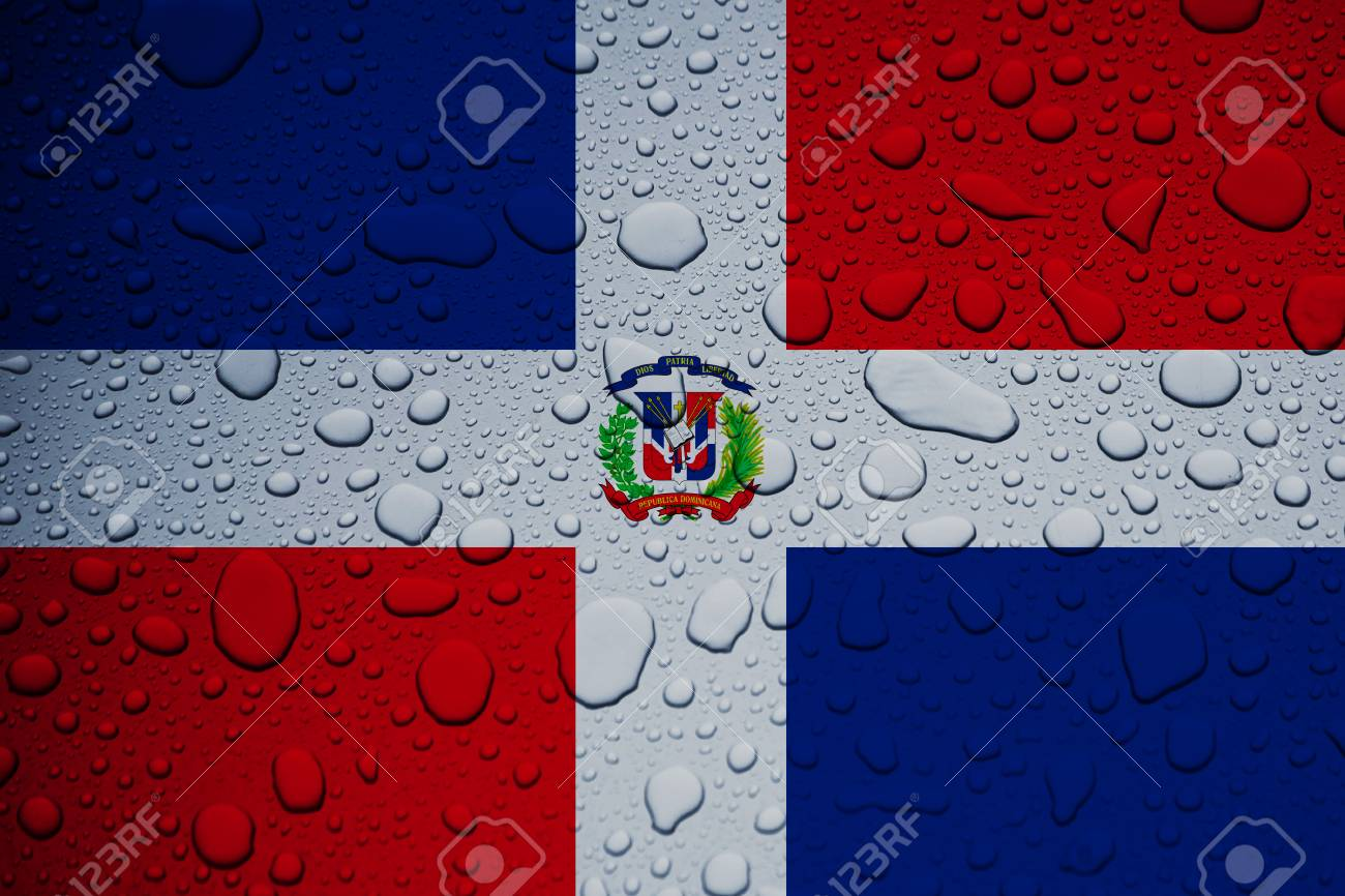 DOMINICAN REPUBLIC, CARIBBEAN, 23 September 2017 - Hurricane Maria leaves island under water. World weeps. Stock Photo - 89387984