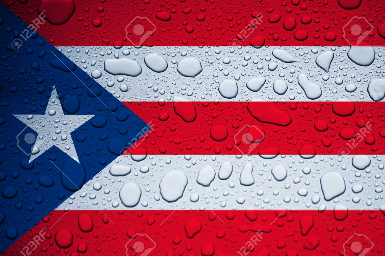 PUERTO RICO, CARIBBEAN, 23 September 2017 - Hurricane Maria leaves island under water. World weeps. Stock Photo - 89387986