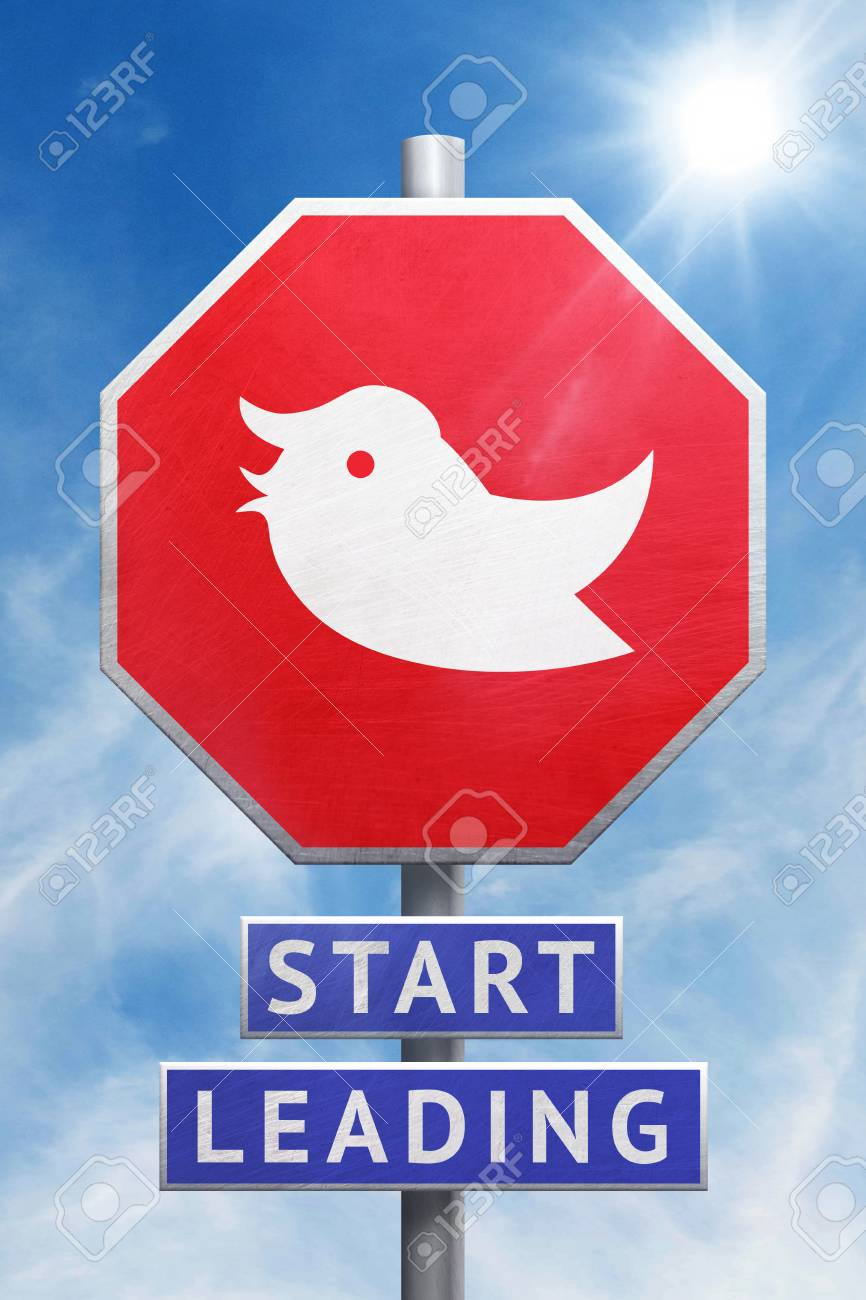 WASHINGTON, USA, 29 November 2017 - Americans warn President Trump to stop tweeting. And start leading. Stock Photo - 90729943