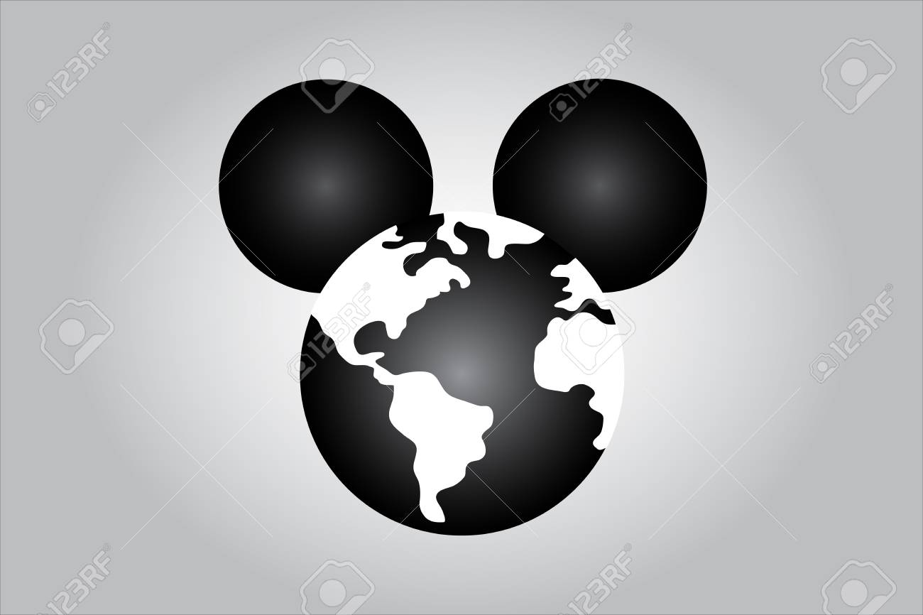HOLLYWOOD, USA, 15 December 2017 - Idea illustrating world media domination by Disney following purchase of Murdoch Fox. Stock Photo - 91926053