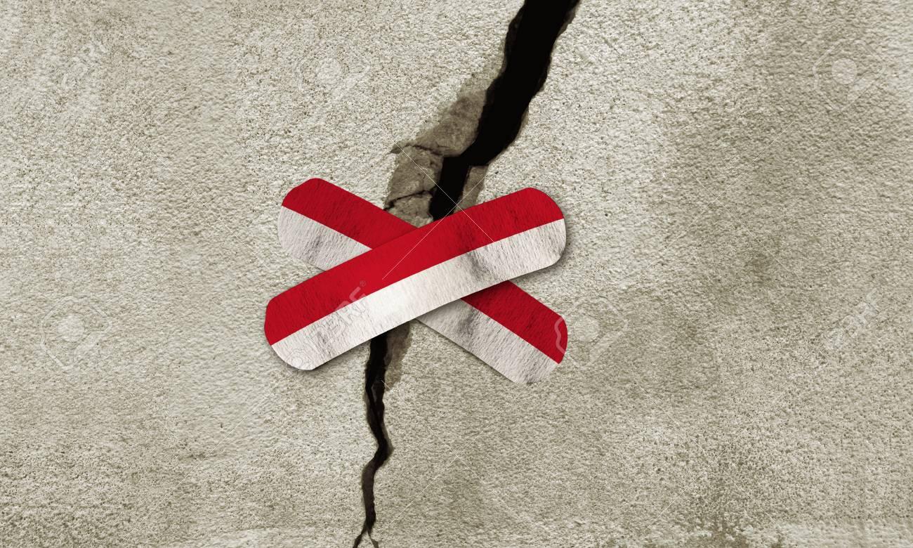 JAKARTA, INDONESIA, 16 December 2017 - Rebuild Indonesia. 6.5 magnitude earthquake strikes Indonesia. Stock Photo - 91926056