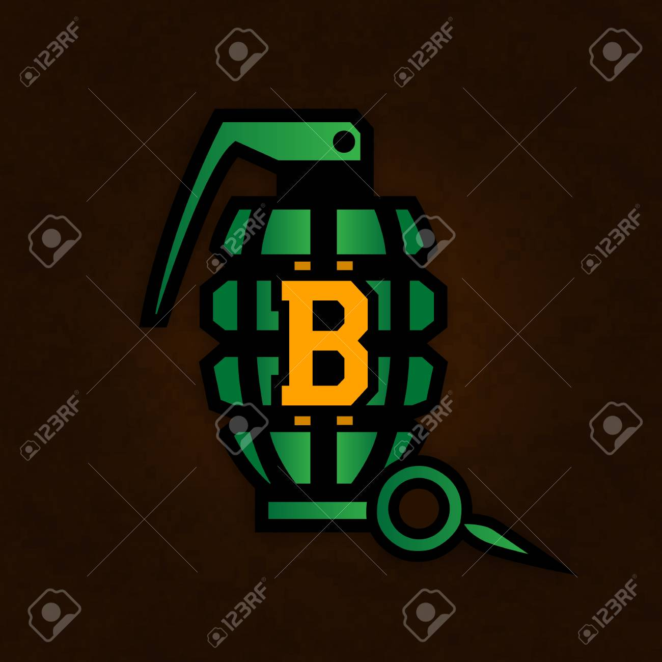 Illustration showing danger of investing in crypto currencies. Stock Illustration - 92400635