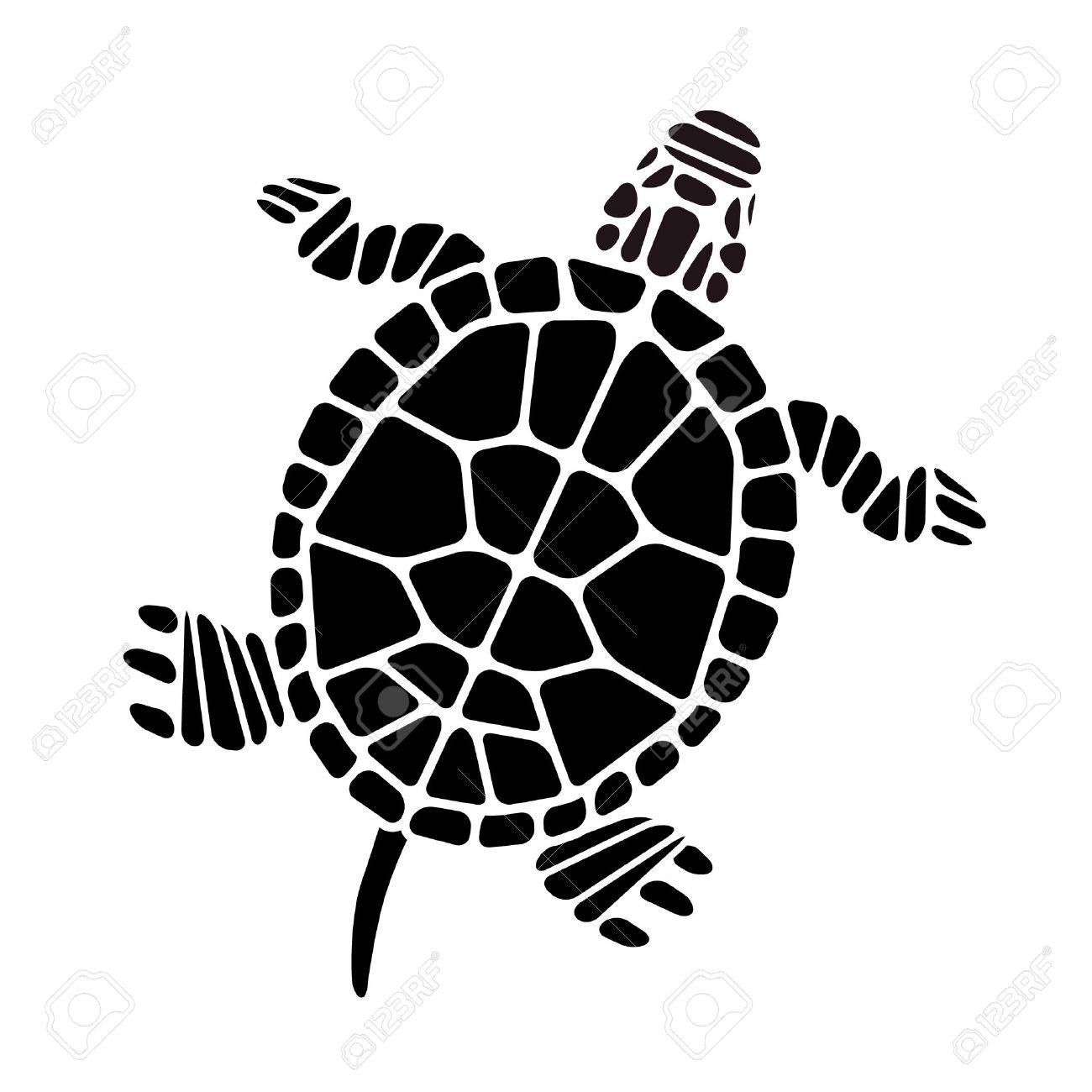 Turtle Silhouette - 34352475