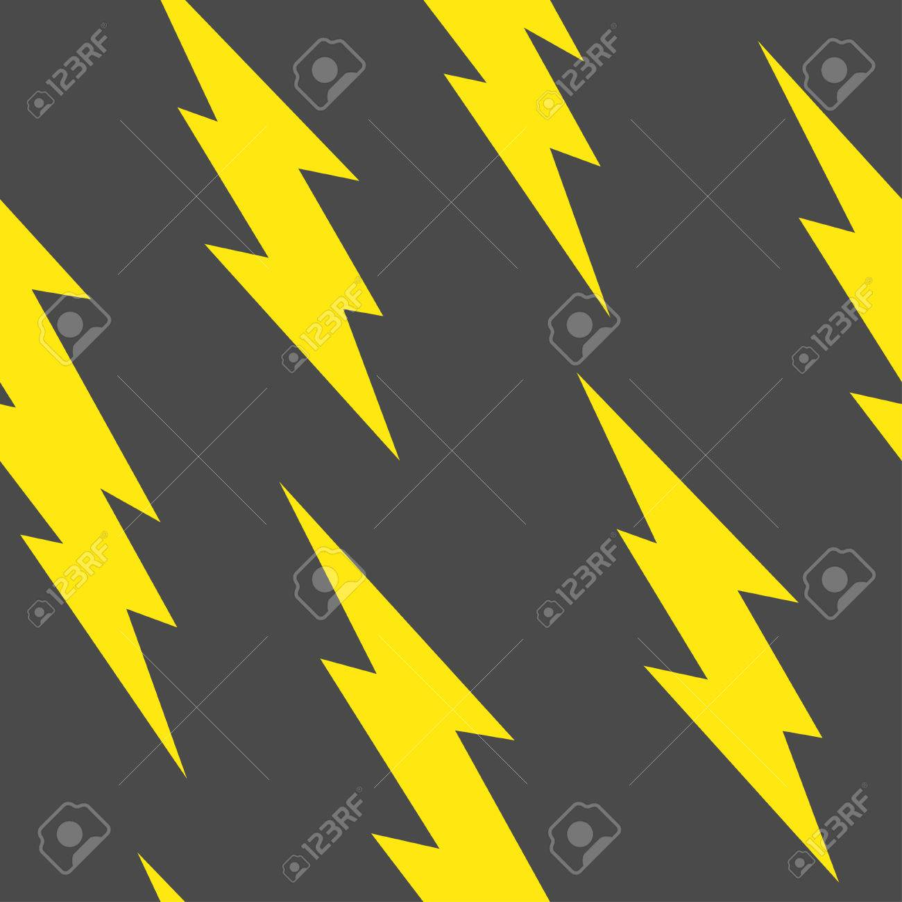 Flash Lightning Bolt Seamless Pattern Stock Vector