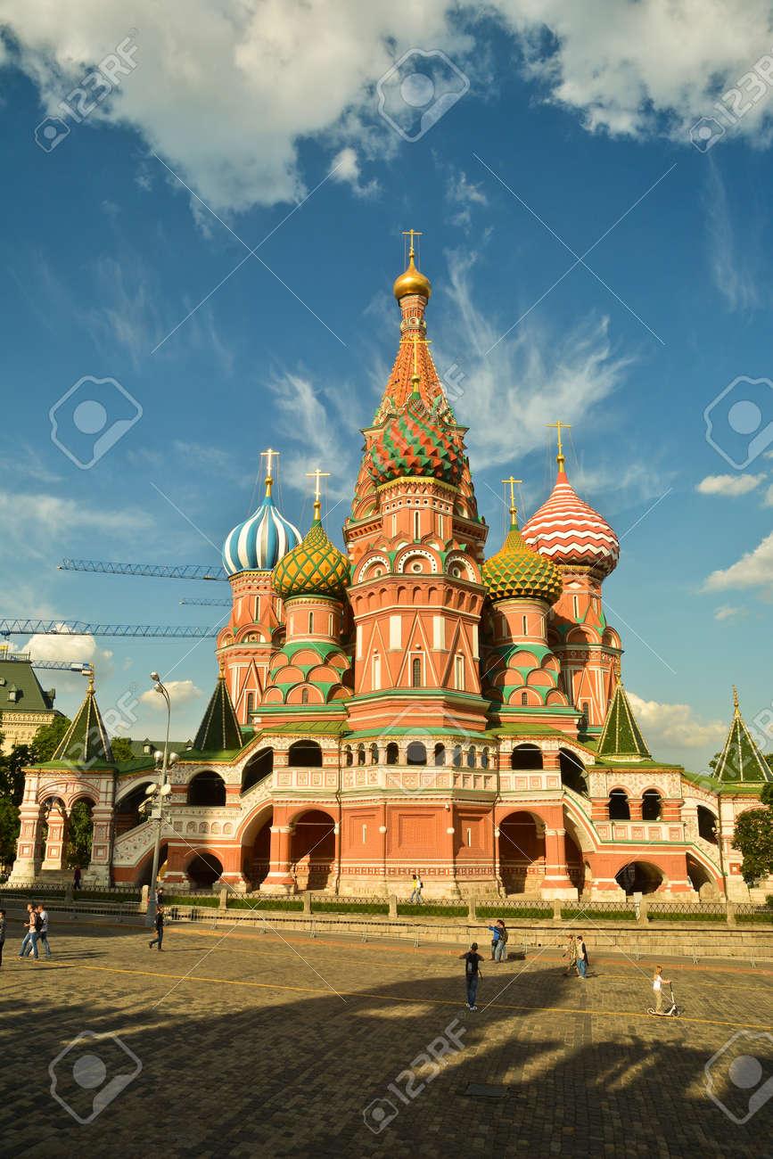 聖ワシリイ大聖堂。モスクワの赤...
