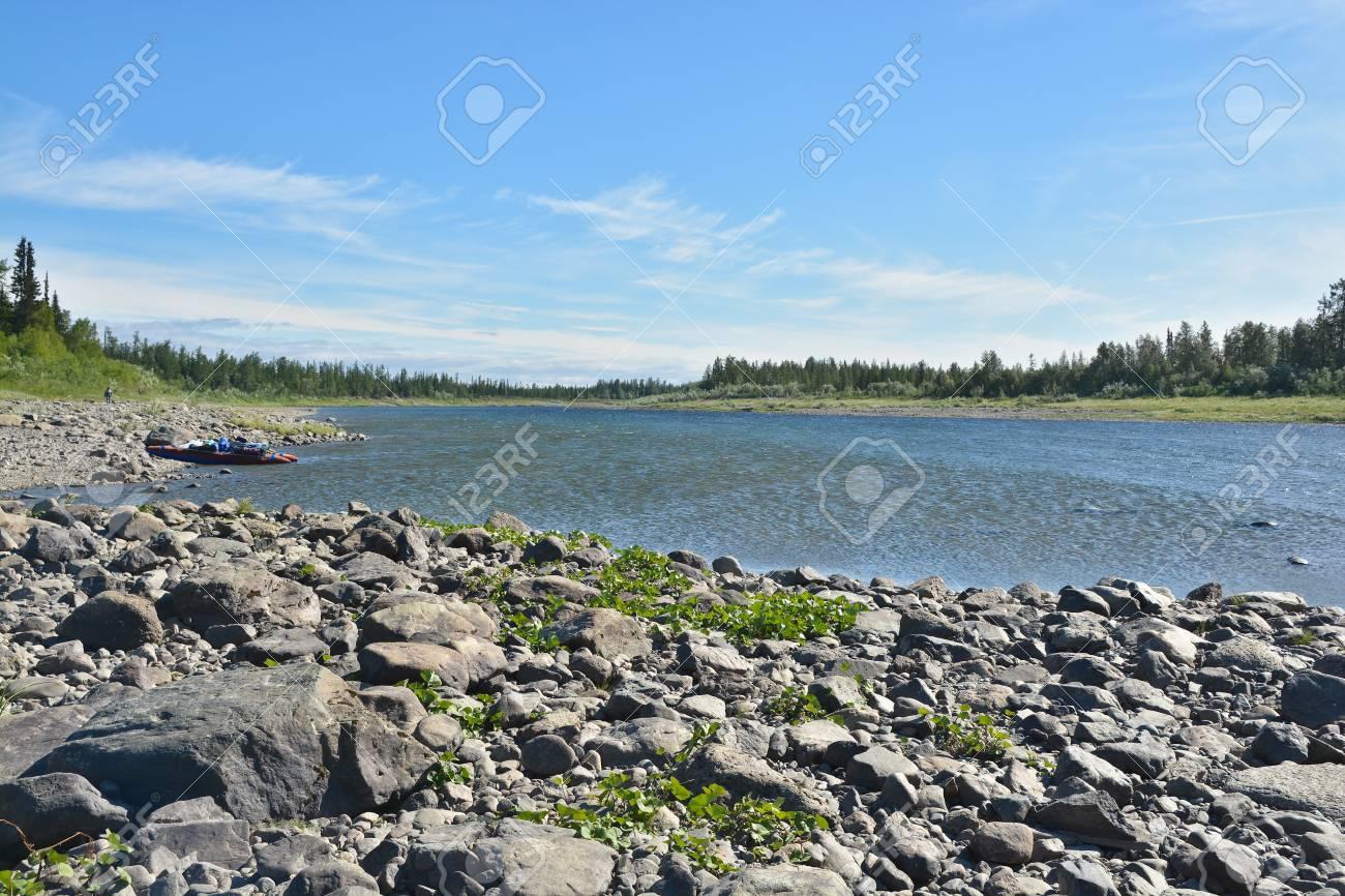 北極ウラル川すすり泣きの夏。北...