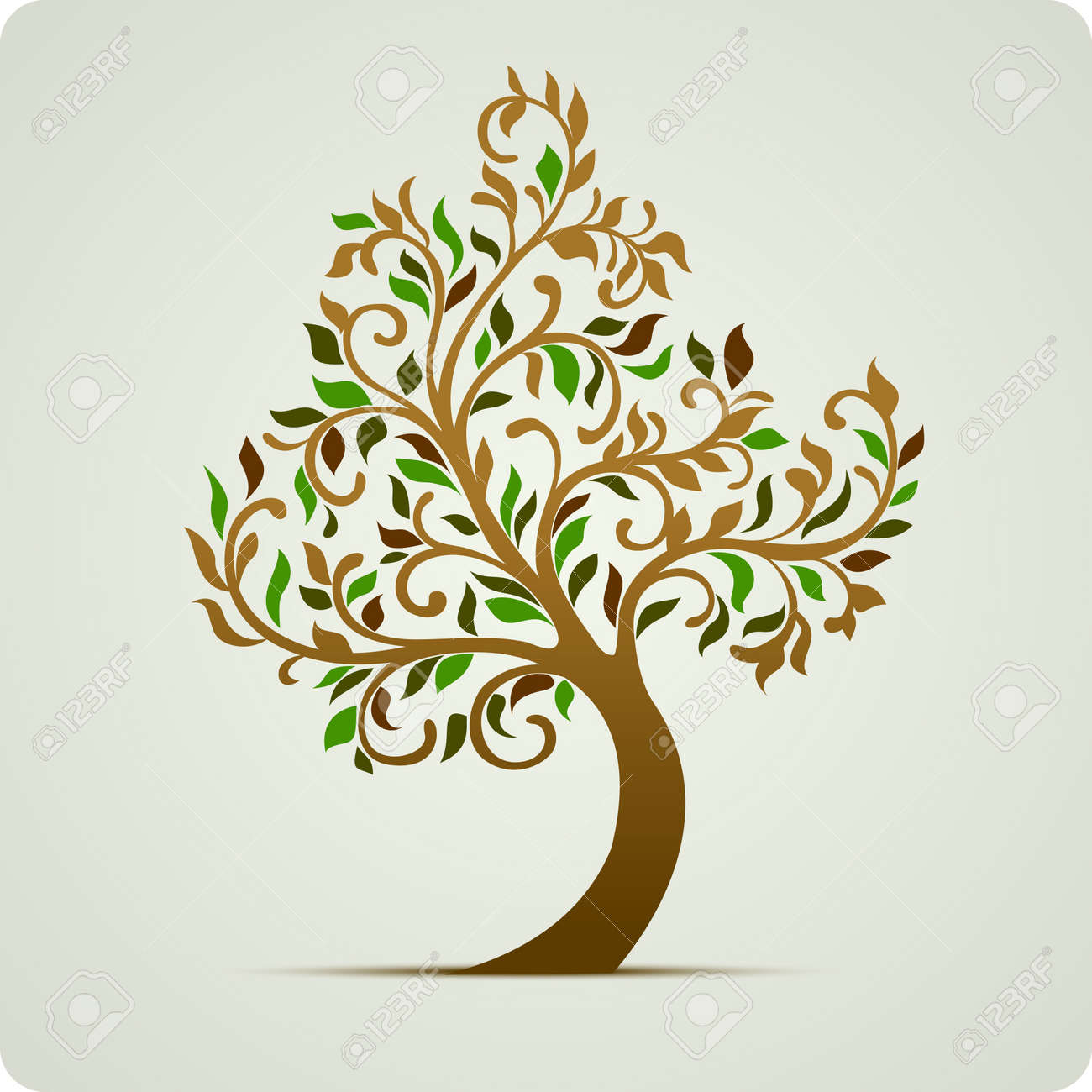 Tree icon abstract illustration Stock Vector - 10502369