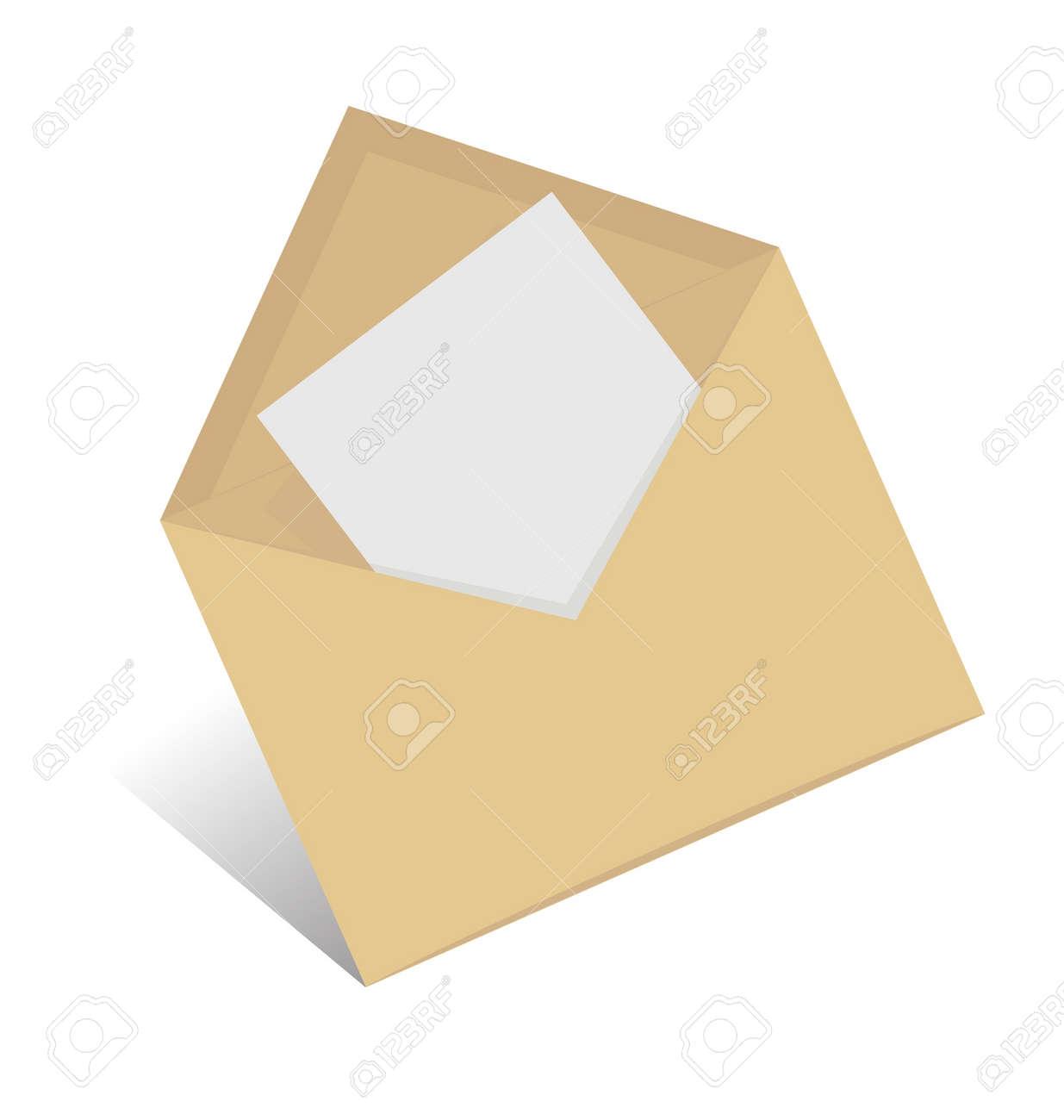 open envelope Stock Vector - 10502390