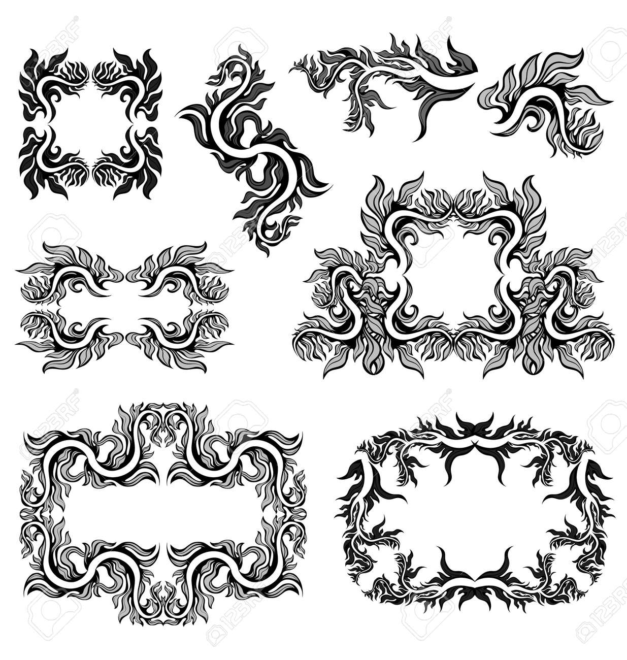 graphic floral frames Stock Vector - 10502563