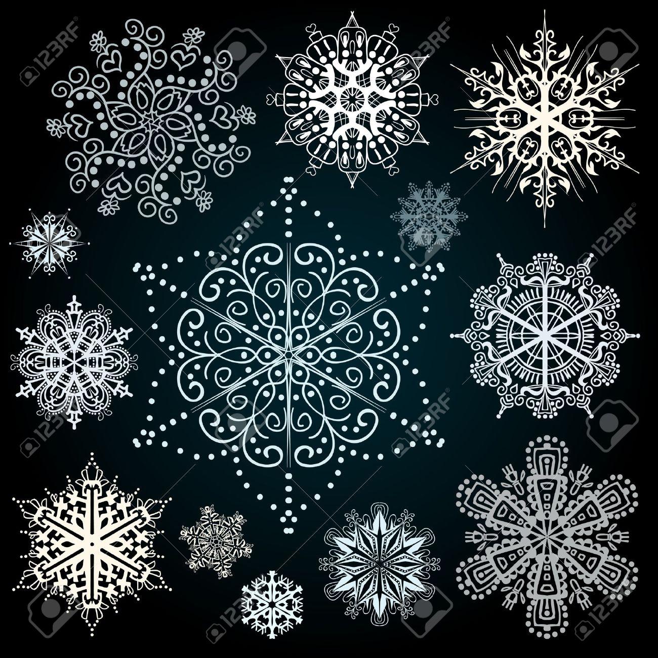 Christmas snowflakes vector art design Stock Vector - 11204922