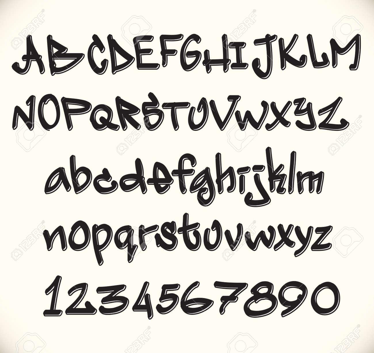 Graffiti font alphabet, abc letters Stock Vector - 11485976