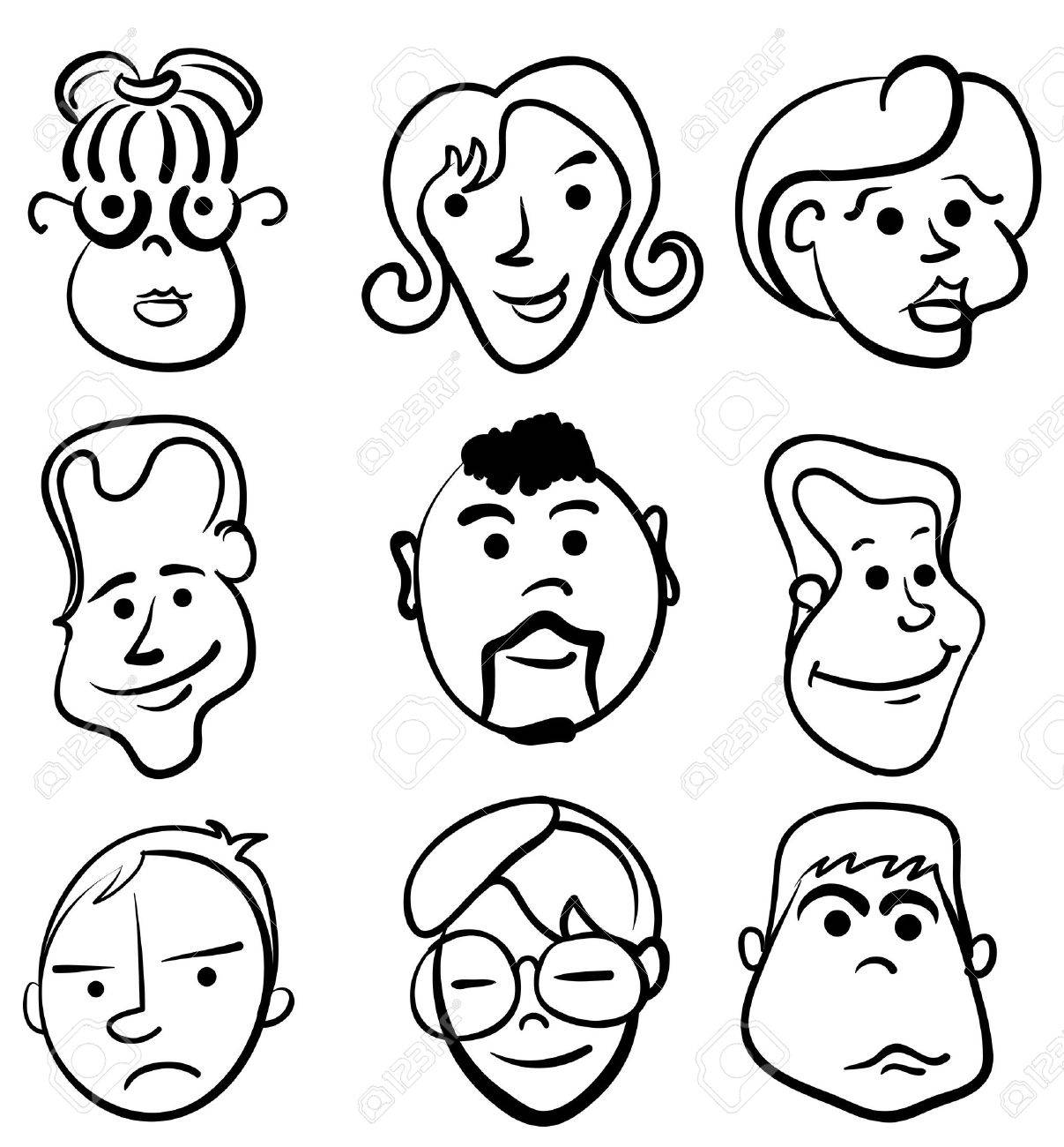 People face cartoon vector icon Stock Vector - 11486038