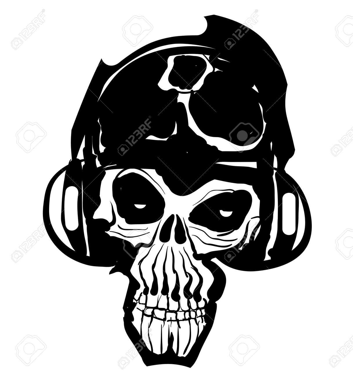 Music Skull Icon Stock Vector - 11950646