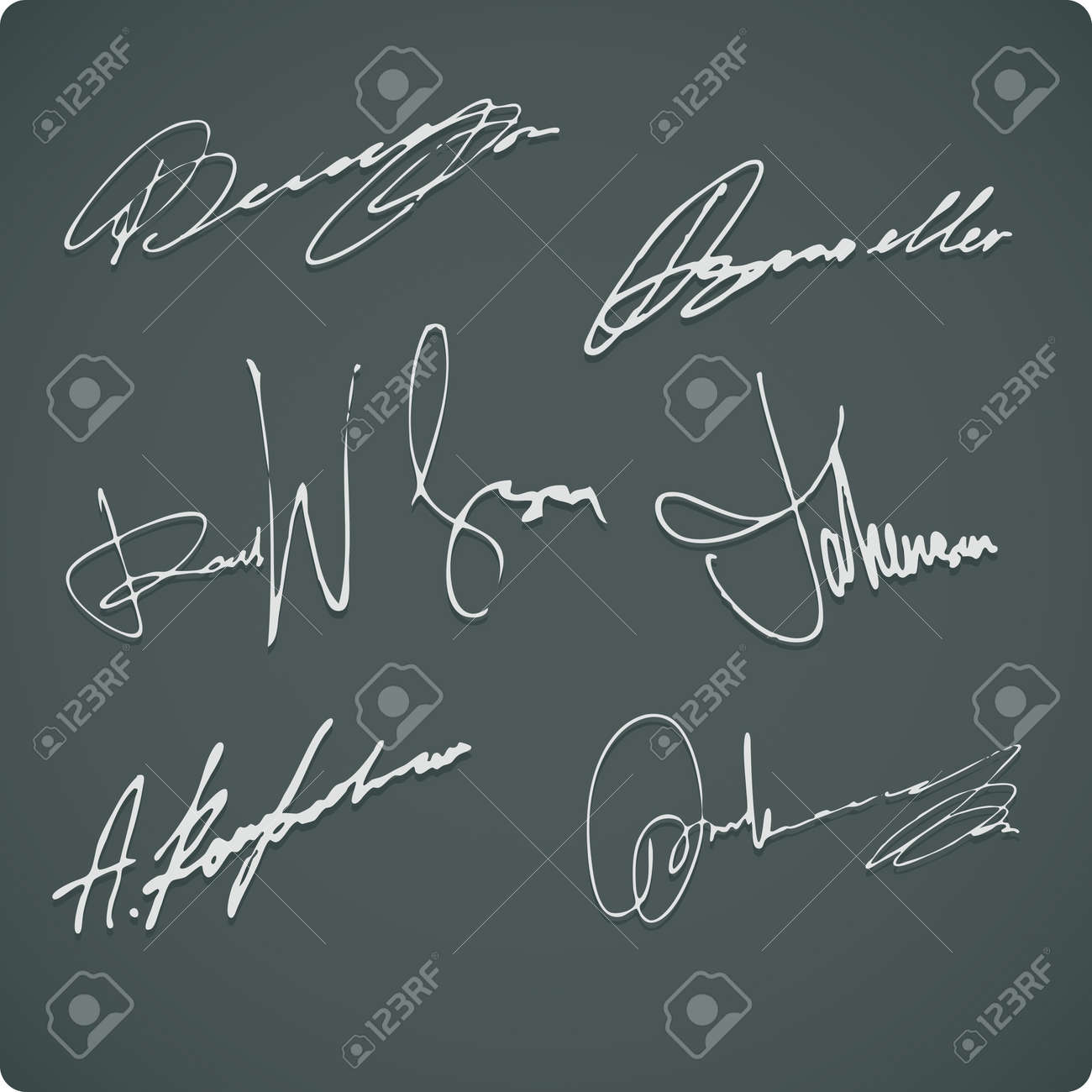 Signature Collection Stock Vector - 11950647