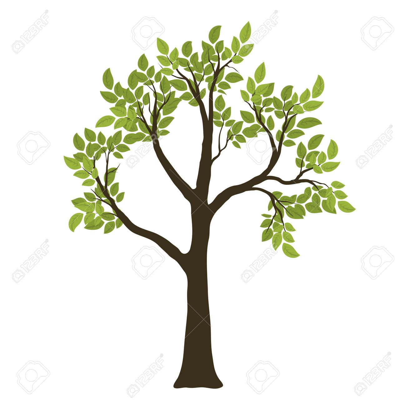 Green Vector Tree. Nature Symbol Stock Vector - 11950624