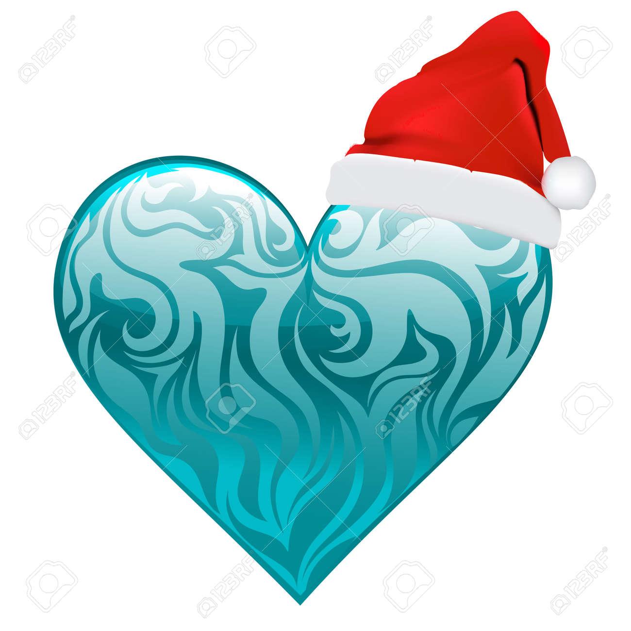 Christmas Heart Vector.Christmas Heart Vector Art