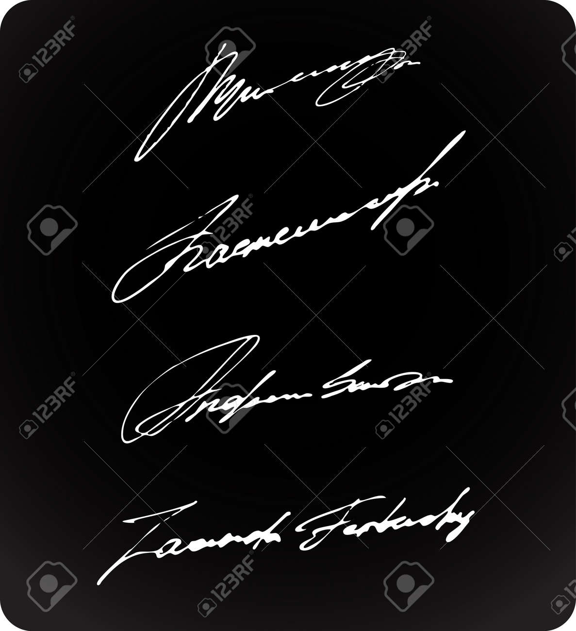 Personal Ink Signatures Collection Stock Vector - 12056146
