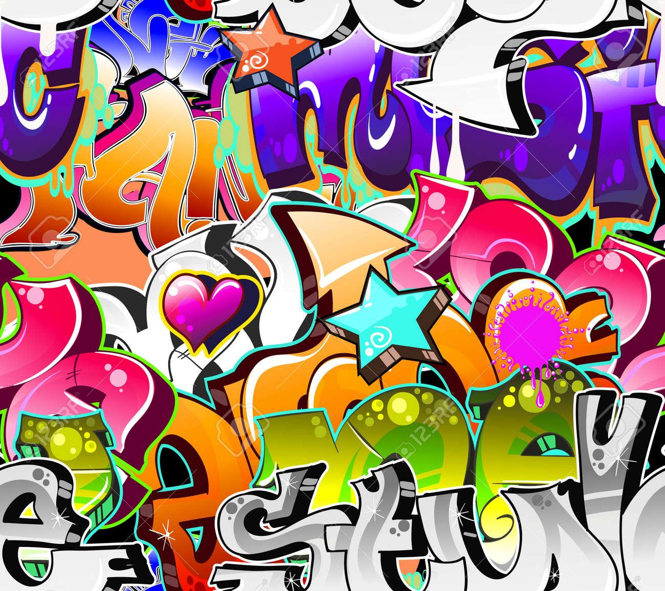 Graffiti art designs - Graffiti Background Graffiti Urban Art Background Seamless Design