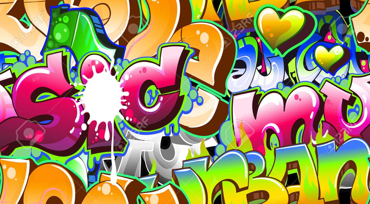 Graffiti Urban Art Background. Seamless design Stock Vector - 12195953