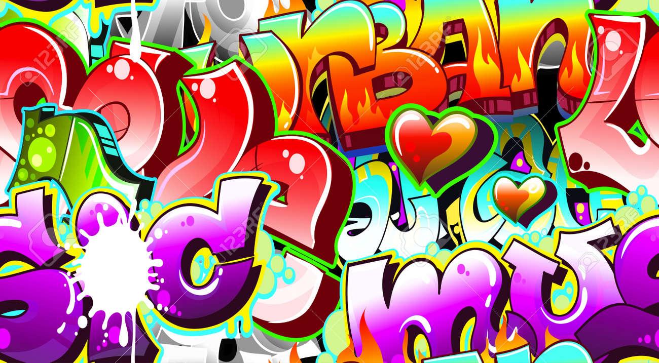 Graffiti art background - Graffiti Urban Art Background Seamless Design Stock Vector 12195954