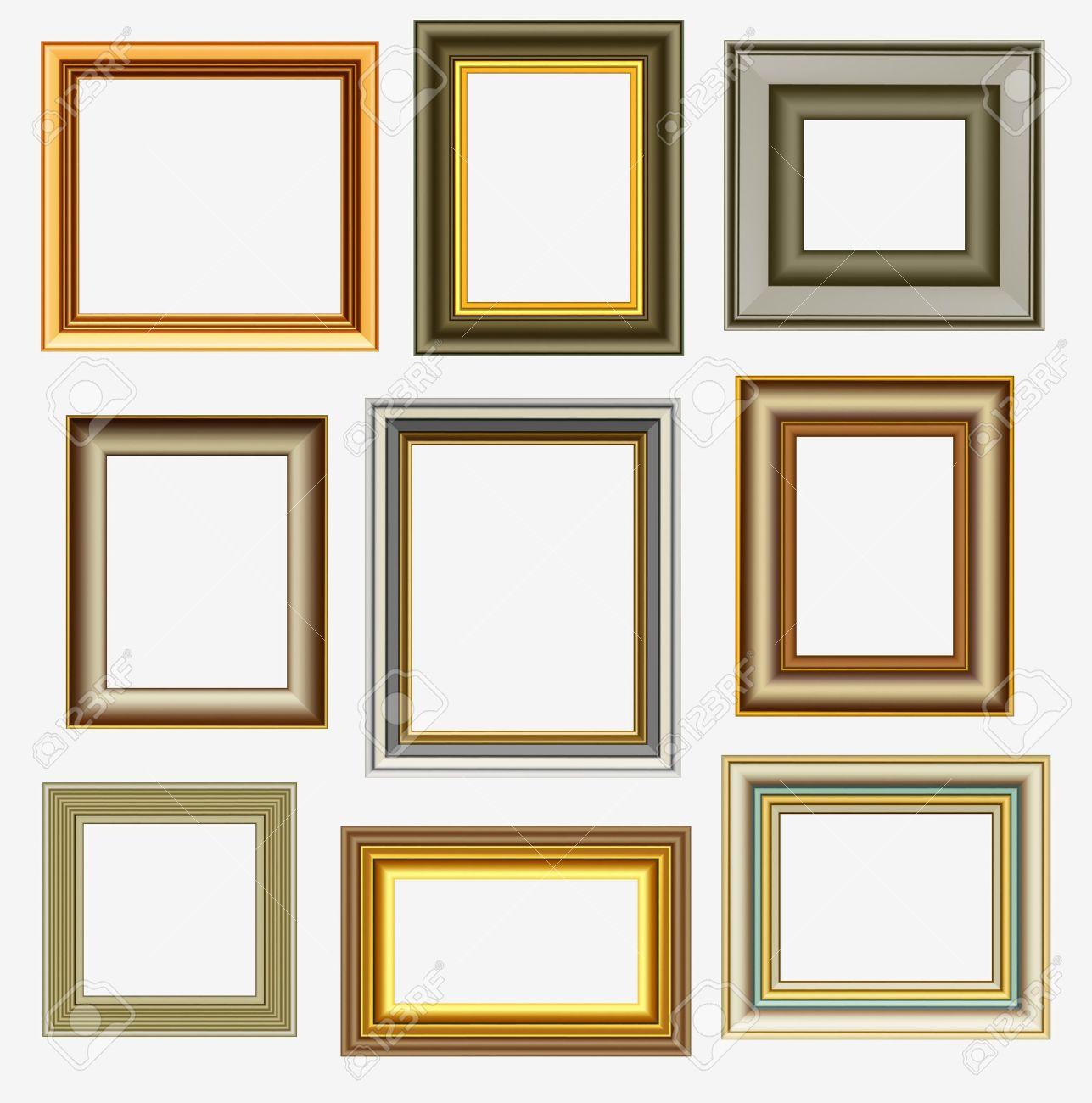 galeria de fotos marcos para cuadros vectores