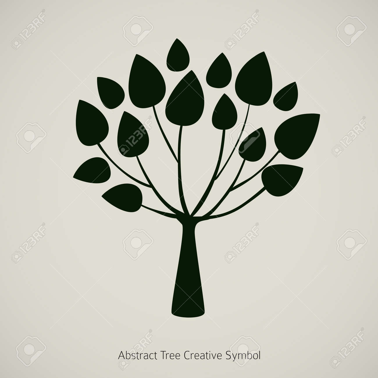 Tree plant illustration. Nature abstract design symbol Stock Vector - 14274175